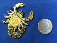 #2823 Golden Star Sign SCORPIO ZODIAC Embroidery Iron On Applique Patch