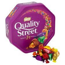726g TUB OF NESTLE QUALITY STREET CHOCOLATES. BRITISH CHOCOLATE, SHIP WORLDWIDE