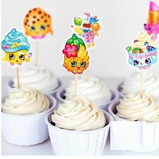 24 Shopkins Cupcake Toppers Picks Birthday Party Food Picks Favor