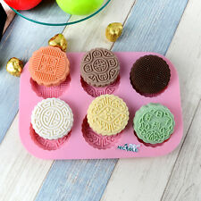 Silicone Mold Soap Mooncake Chocolate Candy DIY Baking Tools Resin Clay Molds