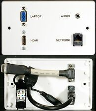 AV Wall Plate, HDMI / 3.5mm Stereo Audio Jack / VGA Video / Cat6 Network Sockets