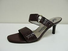 Fab Peter Kaiser Lagune brown leather mules, UK 4/EU 37, RRP £75 ,BNWB