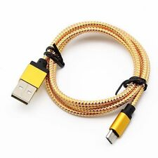 1-3m Universal Micro USB Braided Fast Data Sync Charger Cable Cord For Android