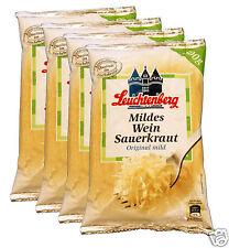 4x500g Leuchtenberg Mild Wine Sauerkraut, Original Mild