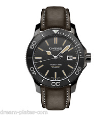 Christopher Ward C60 Trident Vintage 600 43mm auto Swiss watch 42 black PVD case