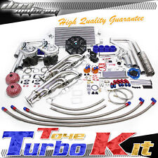 CHEVY SBC 280/305/327/350/400 RACING MANIFOLD T04E FULL TWIN TURBO/CHARGER KIT