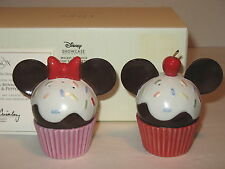 LENOX DISNEY MICKEY & MINNIE MOUSE CUPCAKE SALT AND PEPPER SET SHAKERS NEW