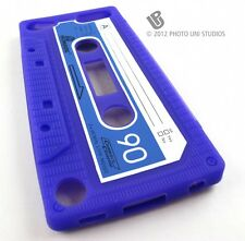 PURPLE FUN CASSETTE TAPE SILICONE RUBBER SKIN CASE COVER APPLE IPOD TOUCH 5