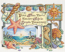 Cross Stitch Kit ~ Dimensions Life's Simple Treasures Beach Sea Life #13696