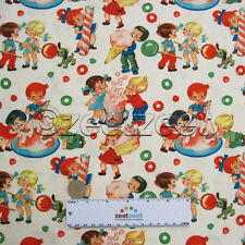 Michael Miller Retro CANDY SHOP Cream Vintage Look Quilt Fabric by the YARD