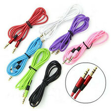 3.5mm Male-Male Stereo Jack Audio AUX Patch Cable Cord For Phone iPhone Random A