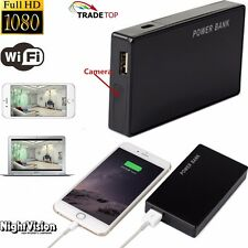 1080P WIFI HD SPY DVR Hidden Camera IR Lamp Mobile Power Bank Video Recorder LO