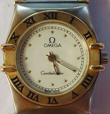 Omega Constellation Ladies 2tone 18k/ss New Battery Genuine