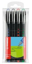 Stabilo Bl@ck Bionic Rollerball Pens Ergonomic Smooth Writing Asst Colours X 4