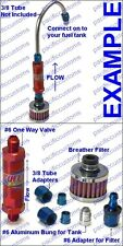 One Way Check Valve Roll Over Air Vent Kit With #6 Weld On Bung For Fuel Tank