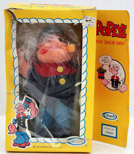 UNEEDA POPEYE THE SAILOR PLUSH TOY FIGURE STUFFED MATERIAL  W/BOX HONG KONG