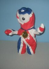 """13"""" London 2012 Gold Medal Animated Dancing Wenlock Union Jack Olympic Mascot"""