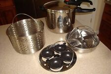 Cook's Essentials Pressure Cooker Non Stick 7 L Egg Poacher, Steamer Baskets