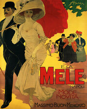 MELE FASHION FOR WOMEN MEN ITALIAN CLOTHING 8X10 VINTAGE POSTER REPRO FREE S/H