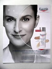 PUBLICITE-ADVERTISING :  EUCERIN Hyaluron Filler CC Cream (02)  2016 Cosmétique