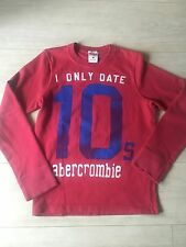 BOY'S SIZE M ABERCROMBIE & FITCH RED/BLUE MUSCLE TOP AUTUMN/WINTER RRP £45