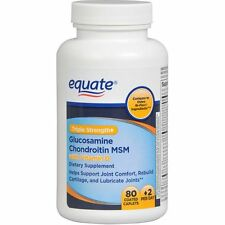 Equate Glucosamine Chondroitin MSM Joint Care Formula 80 Coated Tablets