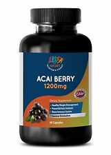Organic Dried Powder - ACAI BERRY 1200MG - Immune System Boosting Extract - 1Bot