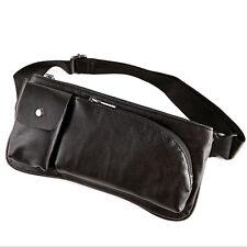 Men's Leather Shoulder Messenger Hip Bum Belt Fanny Pack Waist Sling Chest Bag