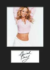 MARIAH CAREY #2 Signed Photo Print A5 Mounted Photo Print - FREE DELIVERY