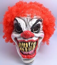 Déguisement Clown Effrayant Masque Halloween Horreur Accessoire Masque and Wig
