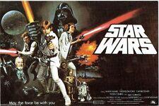 Star Wars 4x6 British Quad Movie Poster Art Postcard