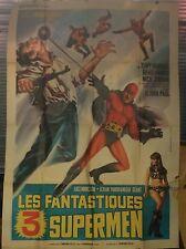 GROßPLAKAT FILM LES FANTASTIQUES 3 SUPERMEN