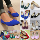 Fashion Ladies Womens Ballerina Ballet Dolly Pumps Flat Heel Loafers Shoes Flats