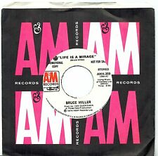 MFD IN CANADA PROMO COPY 1974 COUNTRY 45 RPM BRUCE MILLER : LIFE IS A MIRAGE