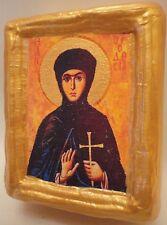 Saint Theodosia Mount Sinai Byzantine Greek Eastern Orthodox Wooden Icon Block