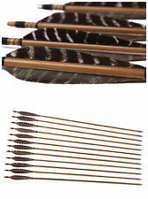 12 X 33'' Bamboo ARROWS FOR COMPOUND OR RECURVE BOW TARGET ARCHERY NEW