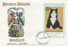 GB Locals - Bernera (2350) Rotary - Cats deluxe sheet on First Day Cover