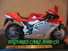 MOTO  1/18 MV AGUSTA 750 F4S ROUGE / GRISE 2002 MAISTO