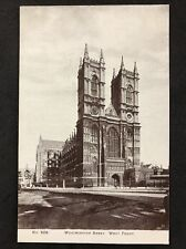 RP Vintage Postcard - London #W27 - Westminster Abbey West Front - Smith