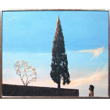 Untitled (Person Looking up at Tree) By Richard Maitland Framed Oil Painting