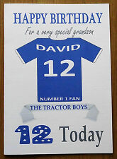 """IPSWICH FAN Unofficial PERSONALISED Football Birthday Card (""""THE TRACTOR BOYS"""")"""