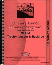 Massey Ferguson 50A Industrial Tractor Operators Manual