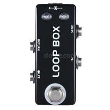 Mini Guitar Effect Pedal Loop Box Switcher Channel Selection True Bypass I2O0