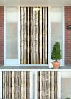 BAMBOO EFFECT CURTAIN BLINDS WOODEN BEADED INSECTS FLY DOOR SCREEN SCREENING