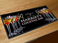 Personalised Cocktail Glass bar runner Pubs & Cocktail Bars Bar mat