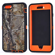 Defender Realtree Camo ShockProof Rubber Case For iPhone 4s 5s 5C SE 6 6s 7 Plus