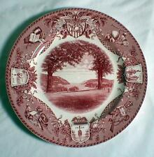 """WEDGWOOD WEST POINT VIEW NORTH TROPHY PT MILITARY ACADEMY 10 1/2"""" DINNER PLATE"""