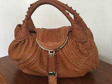 100% AUTHENTIC Vintage FENDI Cognac washed leather SPY Bag Large (not mini)