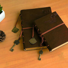 Vintage Key String Leather Note Book Journal Diary Notebook Sketchbook Paper US