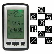 Digital Wireless Outdoor Indoor Weather Station Thermometer Humidity Meter